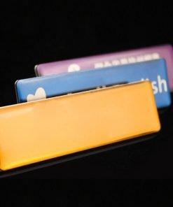 Thẻ tên nhân viên bằng kim loại phủ keo giá rẻ