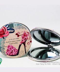 Gương mini hai mặt hình tròn