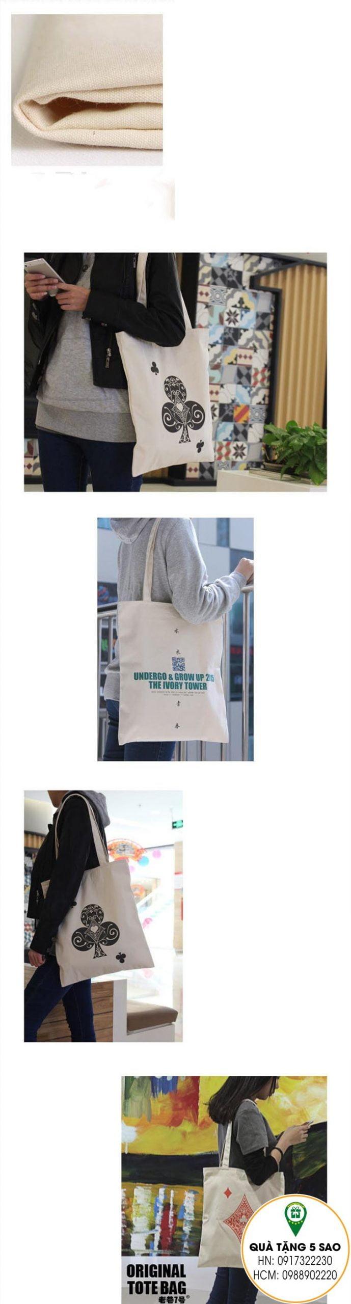 Túi đeo vai bằng vải in ấn theo yêu cầu
