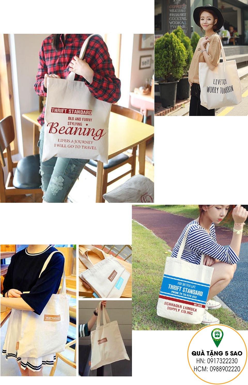 Túi vải hợp mốt mới với các cô gái trẻ