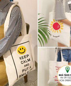 Túi vải canvas số lượng nhiều giá rẻ
