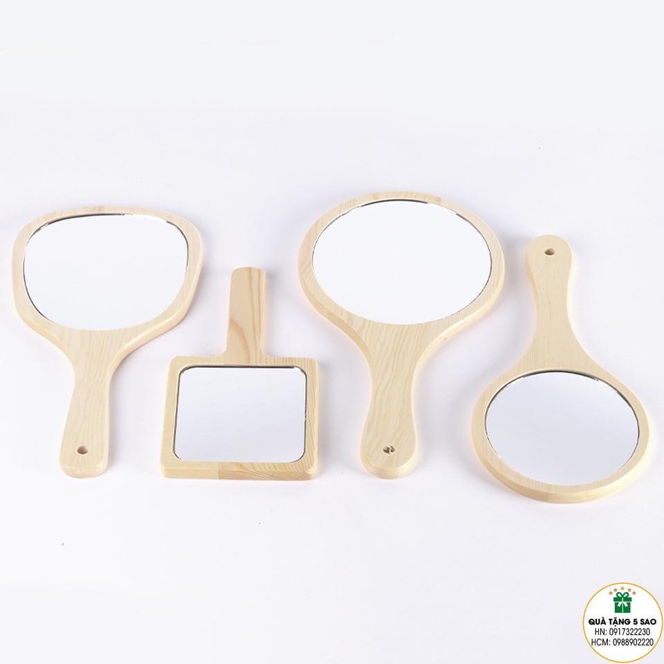Bộ gương mini bằng gỗ