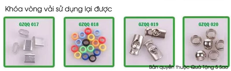 Nút khóa vòng tay vải sử dụng nhiều lần