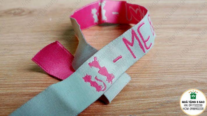 Vòng tay vải dệt có họa tiết 2 mặt ngược nhau