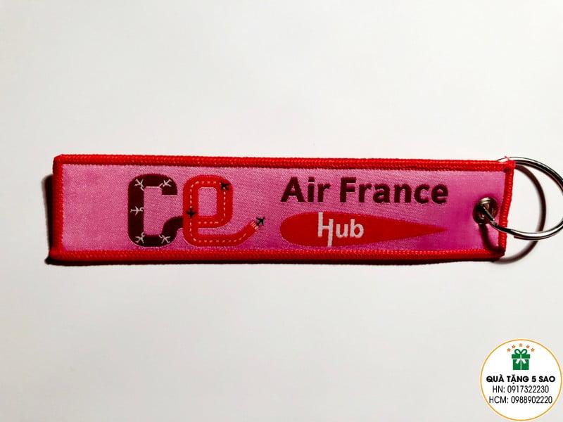Móc khoá vải dệt theo thiết kế của khách hàng Air France Hub