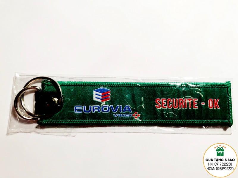 Móc khoá vải, dệt hình theo yêu cầu của Eurovia