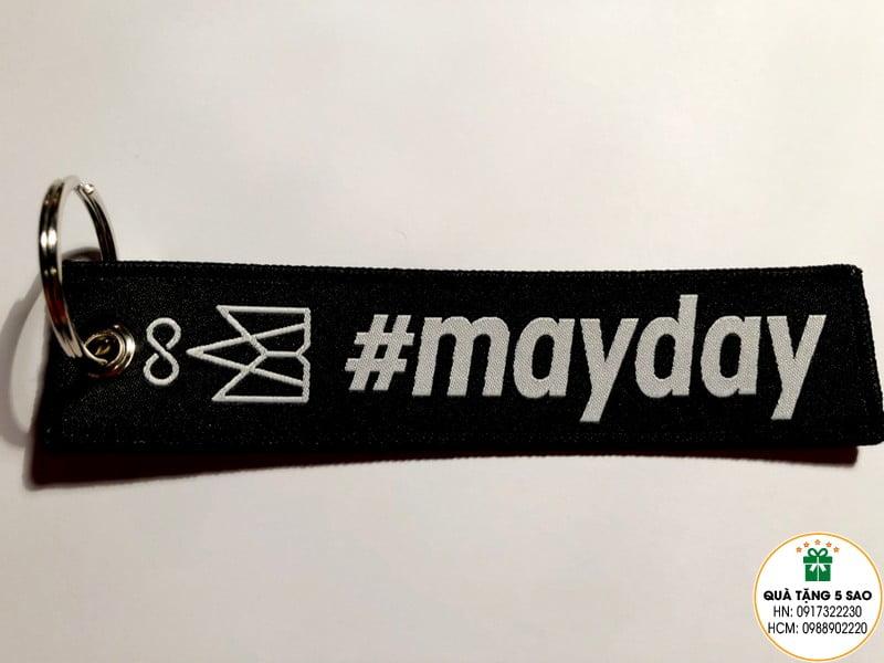 Móc khoá vải dệt theo yêu cầu của #mayday